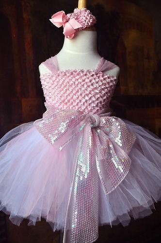 Hochzeit - Rosa Princesse Tutu Flower Girl oder Brthday Party Dress