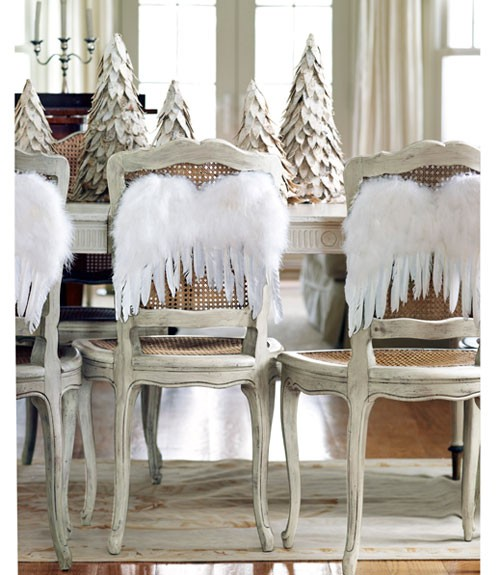Wedding - Winter Wedding Tablescapes ♥ Christmas Centerpieces ♥ Feather Angle Wings