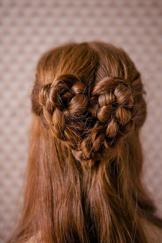Valentineu0027s Day Wedding Hairstyle ♥ Wedding Heart Braid Hairstyles