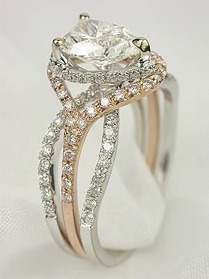Hochzeit - Pear Shaped Diamond Wedding Ring