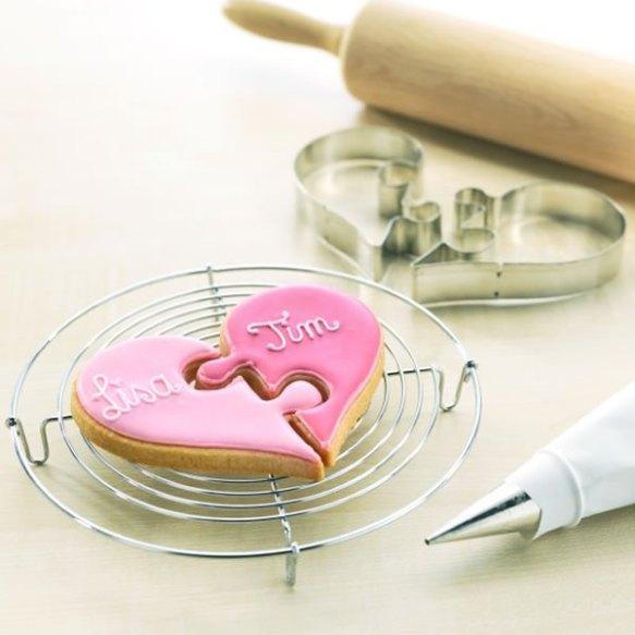 Hochzeit - Hochzeits-Herz-Puzzle Plätzchen