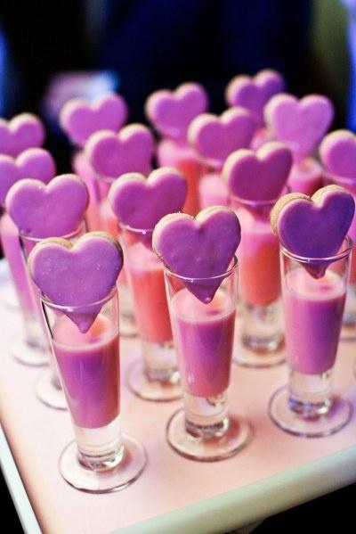 Wedding - Creative Pink Wedding Treats ♥ Valentine's Day Cookie and Drink Idea