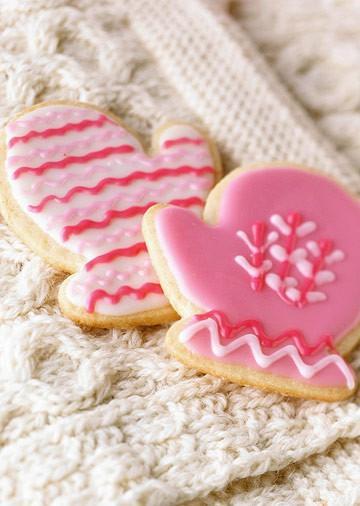 Mariage - Idées de faveur de mariage d'hiver ♥ rose Cookies hiver Sucre