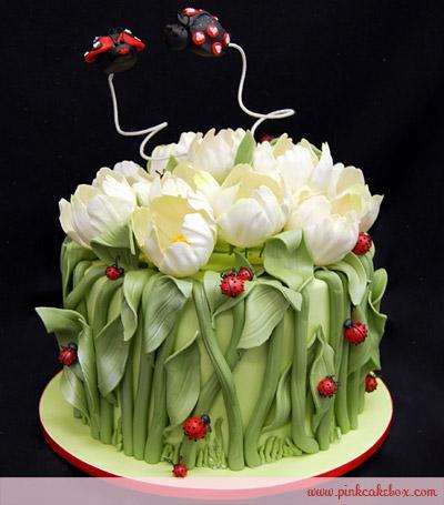 kuchen ideen nette tulip und marienkafer wedding cake a valentinstag rezepte einfach schnell dr oetker