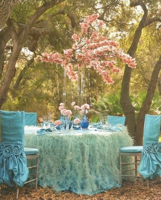 Mariage - Rose et turquoise de mariage Décors Jardin Mariages de rêve ♥