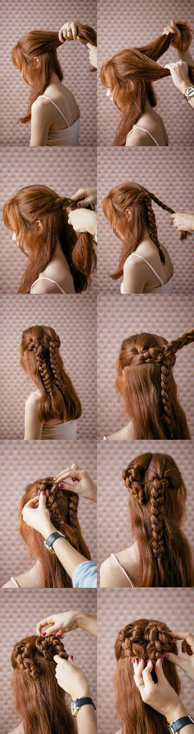 Hairstyle tutorial heart braid wedding hairstyles for long hair