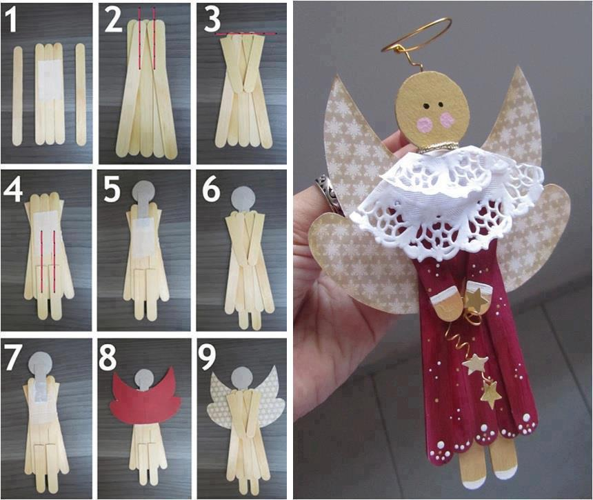 diy angel christmas ornament tutorial creative wedding invitation for winter christmas. Black Bedroom Furniture Sets. Home Design Ideas