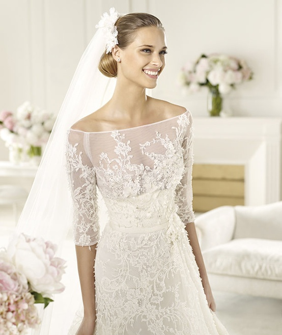 7ba2b781a Pronovias Elie Saab Folie 2013 Bridal Collection ♥ Gorgeous Embroidered  Lace Wedding Dress