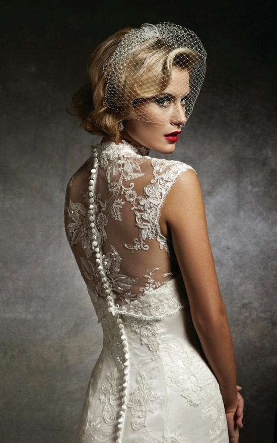Justin alexander sleeveless lace wedding dress 1919596 for Lace button back wedding dress