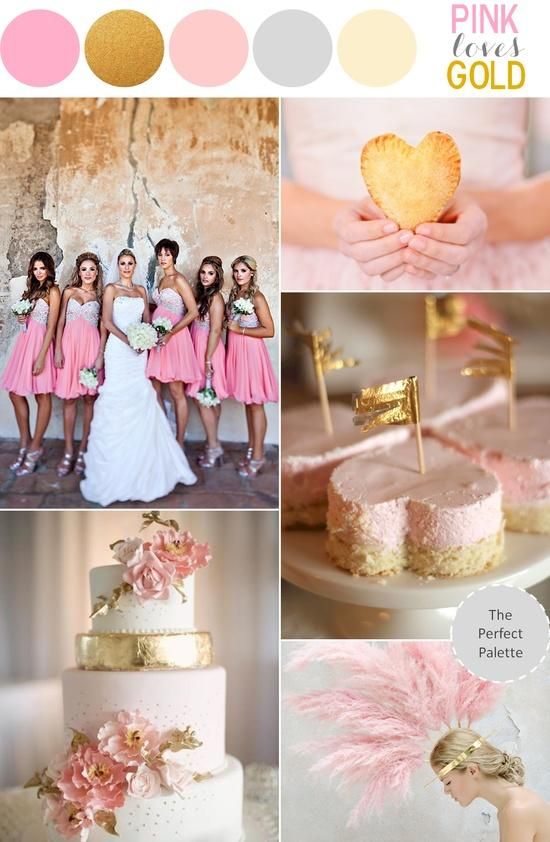 Pink And Gold Wedding Theme Sparkly Ideas