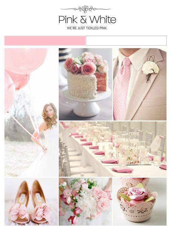 Pink and white wedding theme pink and white wedding for All white wedding theme pictures