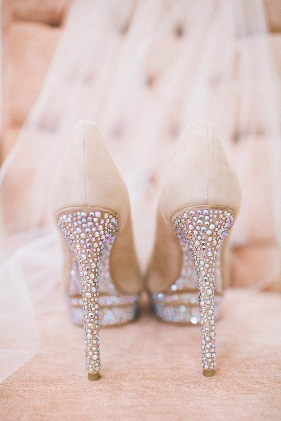 Glamorous Sparkly High Heels Wedding Shoes