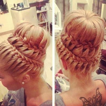 Miraculous Sock Bun Braid Updo Braids Short Hairstyles Gunalazisus