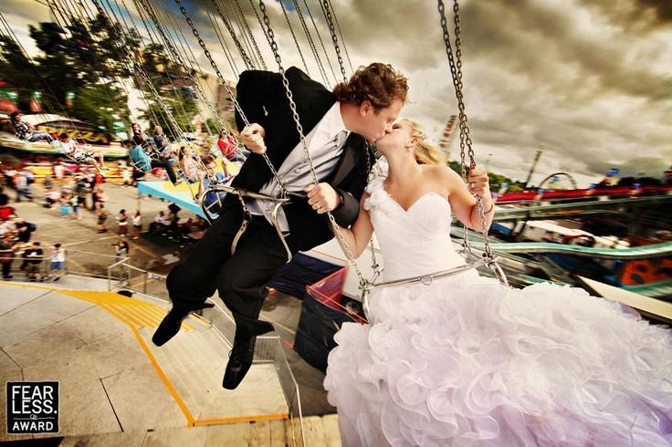 Свадьба - Бесстрашный наград - жених и невеста