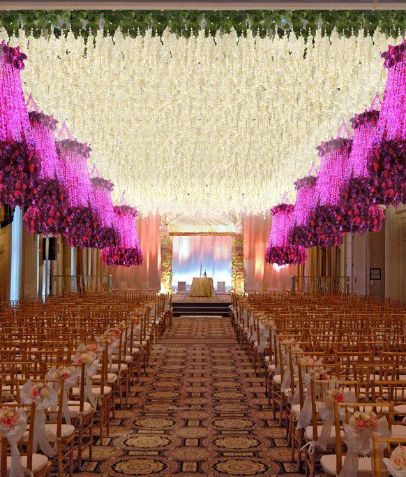 Celebrity Wedding Reception Decor: Aisle Style #1978141