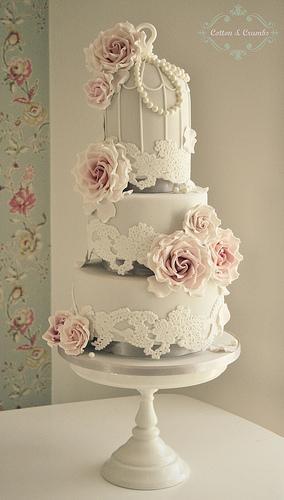Wbirdcage Wedding Cake Lace
