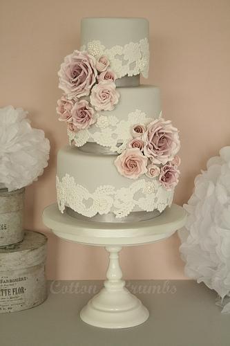 Wedding Cakes Lace Amp Roses Wedding Cake 1987515 Weddbook