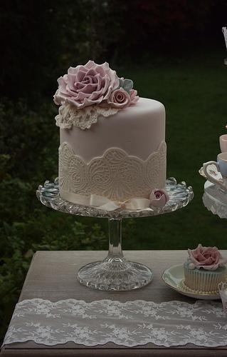"Boda - Tall Cake 6 ""Para Acompañar Cupcakes Y Mini Cakes"