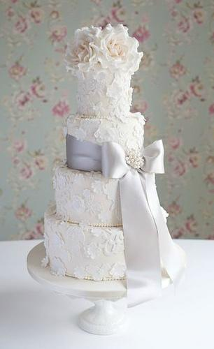 زفاف - الدانتيل وزهر كعكة