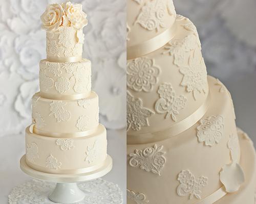Conosciuto Nozze D'Avorio - Ivory Lace Wedding Cake #1987605 - Weddbook QV73