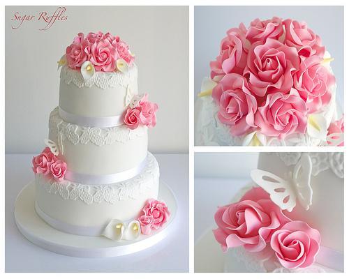 Calla Lilien Hochzeits Bouquet Rosa Rosen Und Calla Lilien
