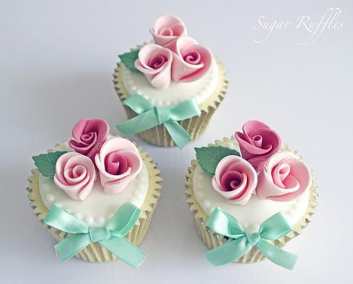 Wedding - Rose Cupcakes