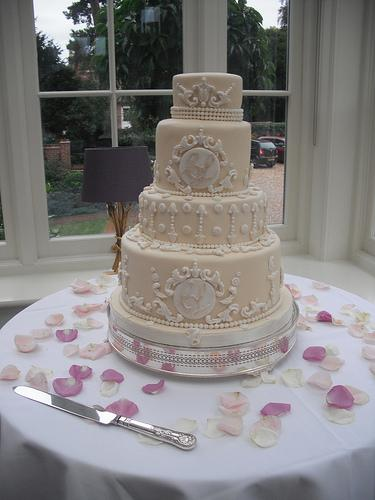 Свадьба - Вензель торт