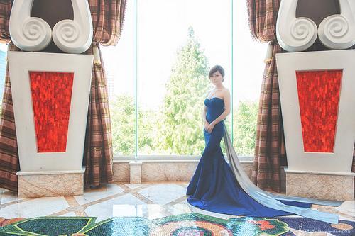 Mariage - [Mariage] mariée en bleu