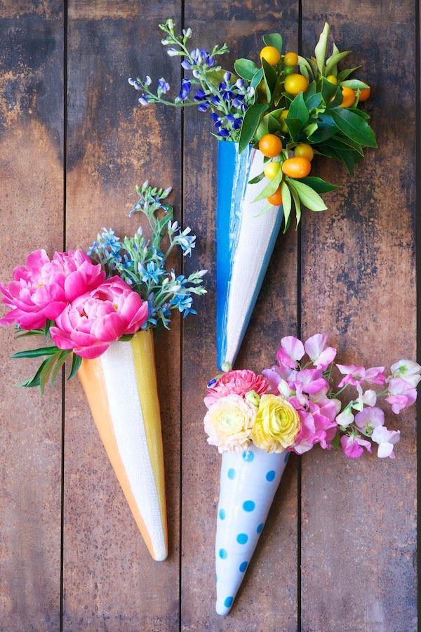 Mariage - Floral Wall Cones