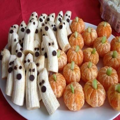 Wedding - Decorate bananas and oranges for Halloween