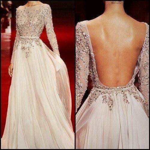 Dress - Low Back Wedding Dress With Rhinestones #2027927 - Weddbook