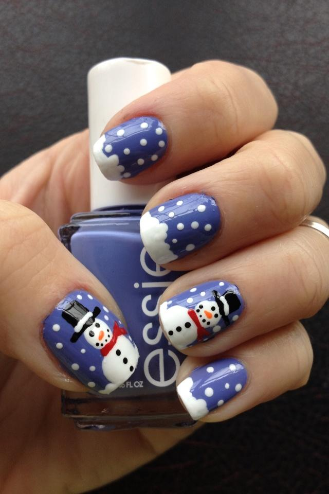 Wedding nail designs frosty the snowman nail art 2028024 frosty the snowman nail art prinsesfo Images