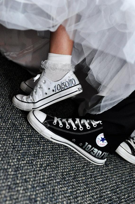 converse blanche mariage