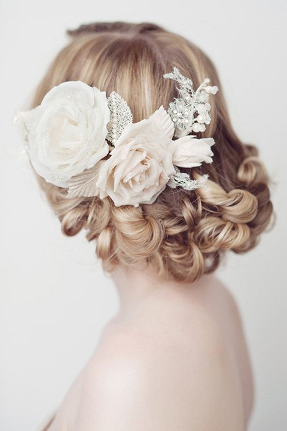 Bridal Hair Accessories Flowers Silk Flowers Healthy