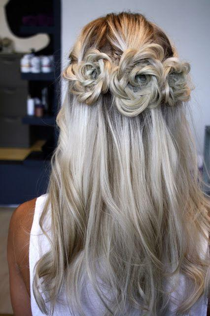 Wedding - Flower braid wedding hairstyle for the bride
