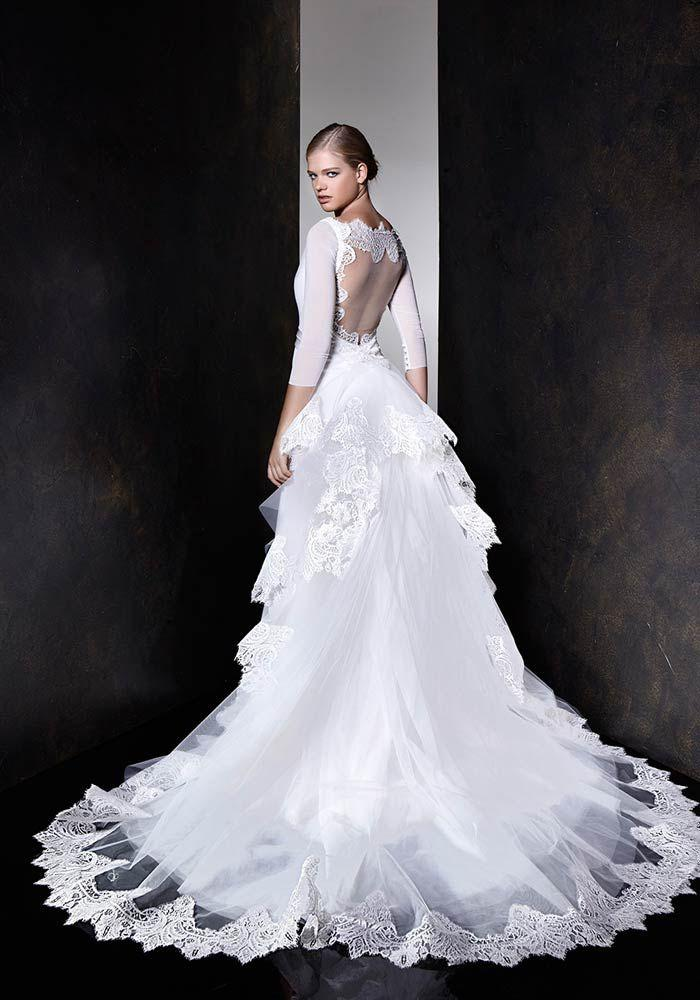 Wedding - The exquisite lace cut work white gown