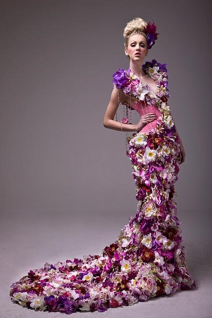 Dress a unique real floral wedding dress 2040296 weddbook for Wedding dress made of flowers