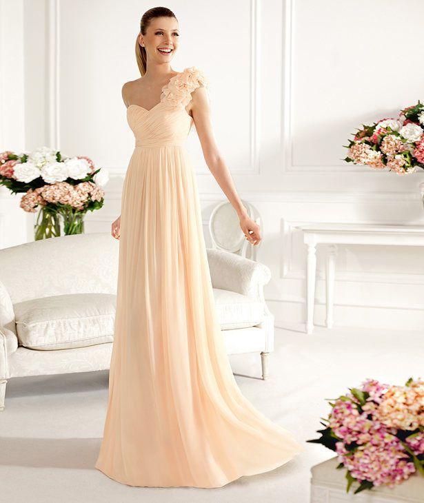 2013 Auf Langes Formales Abendkleid Brautjungfer Abendkleid Hochzeit ...