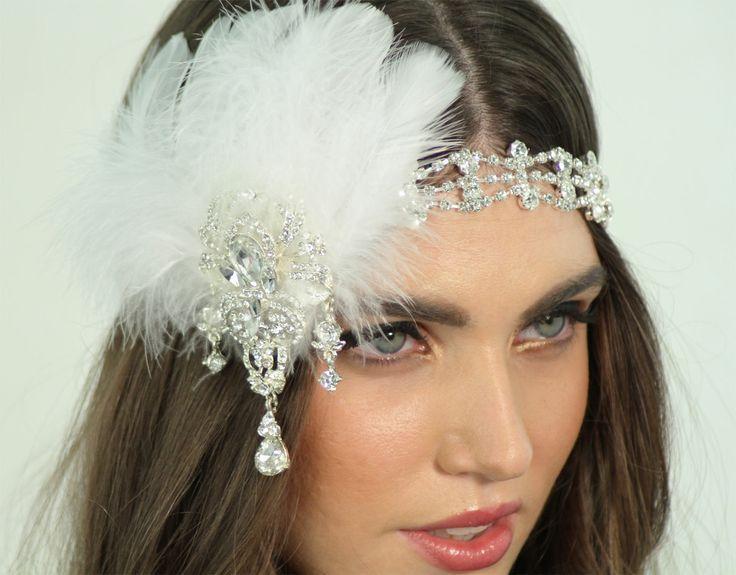 Feather Crystal Wedding Headband For The Pretty Bride  2042012 ... d0b89cf518c