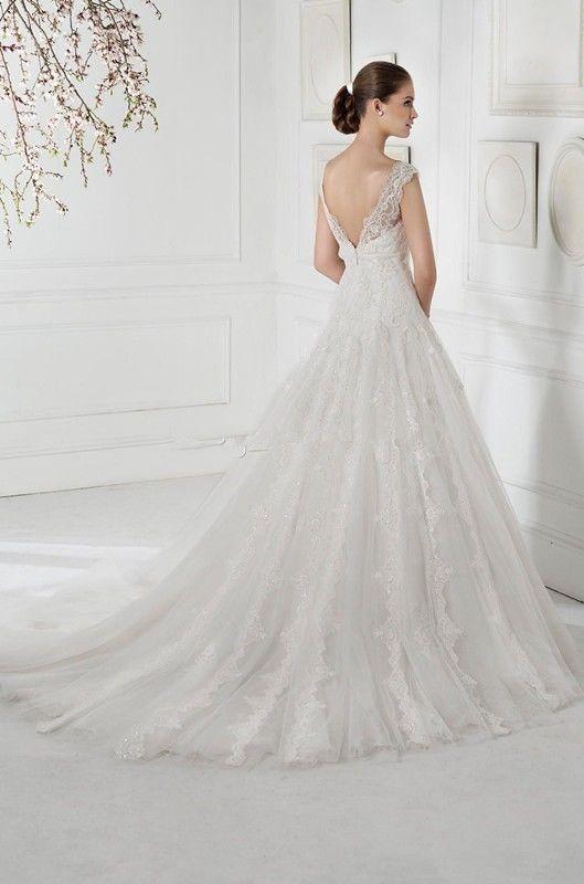 Nueva Hermosa Talla Blanco / Marfil Apliques Vestido De Novia ...