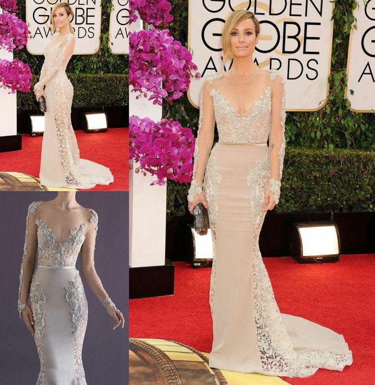 2014 Golden Globe Awards Kleid Langes Chiffon-Hochzeits-Kleid ...