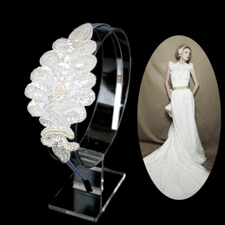 Hochzeit - Spangle Brautjungfern Hochzeit Braut Kopfstück Stirnband