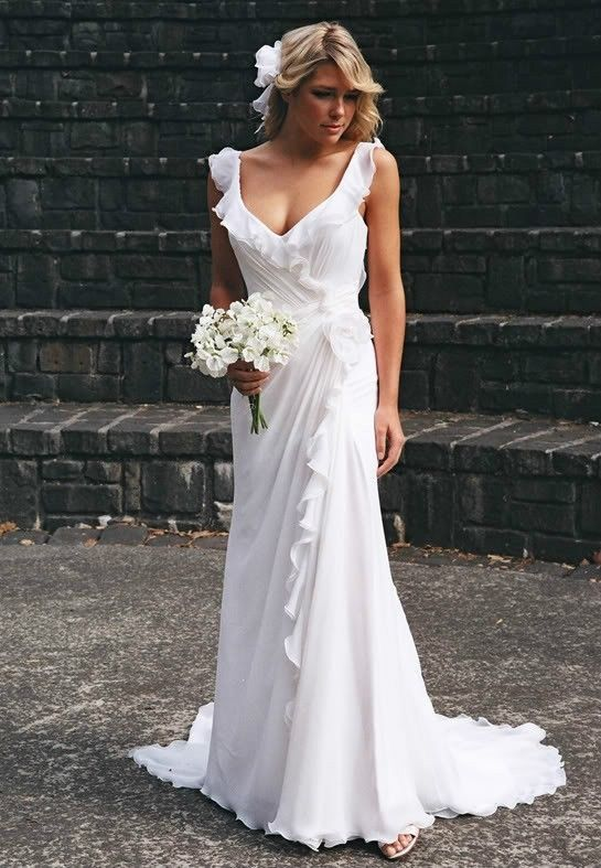 White Ivory Bridal Gown Wedding Dress Custom
