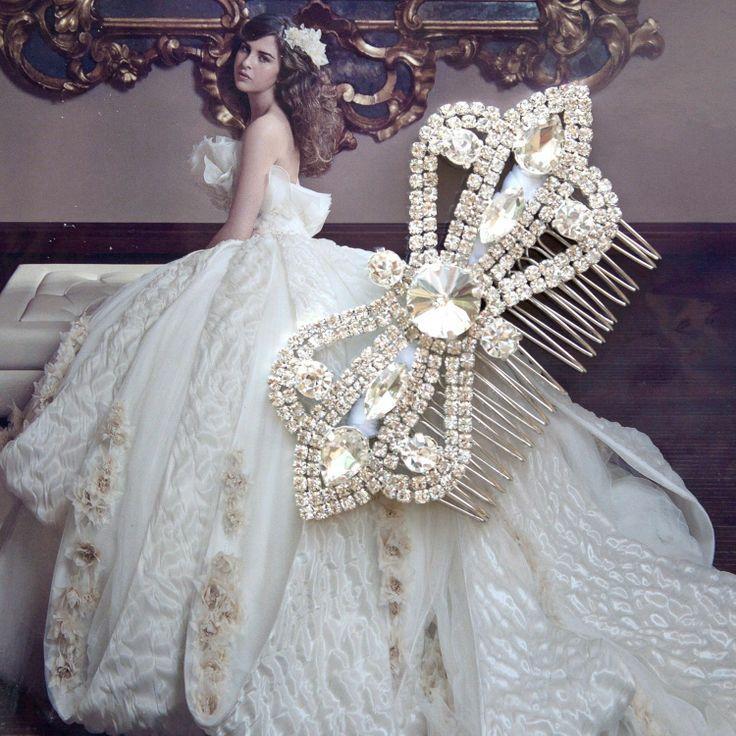 Hochzeit - Hochzeit Braut Fabulous Blumenrhinestone-Band-Haar-Kamm Hochzeits-Zusatz
