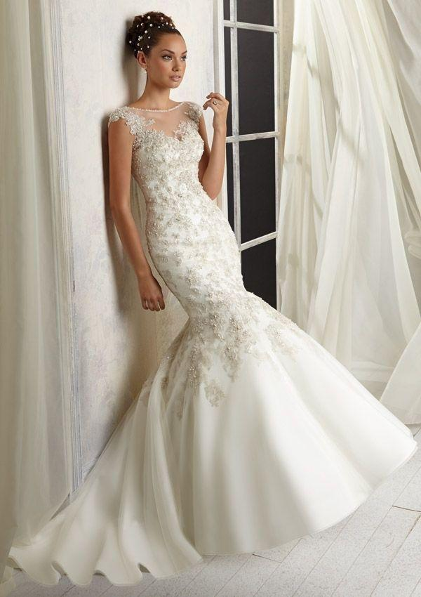 2014 New White/Ivory Mermaid Wedding Dress Bridal Gown Size 4 6 8 ...