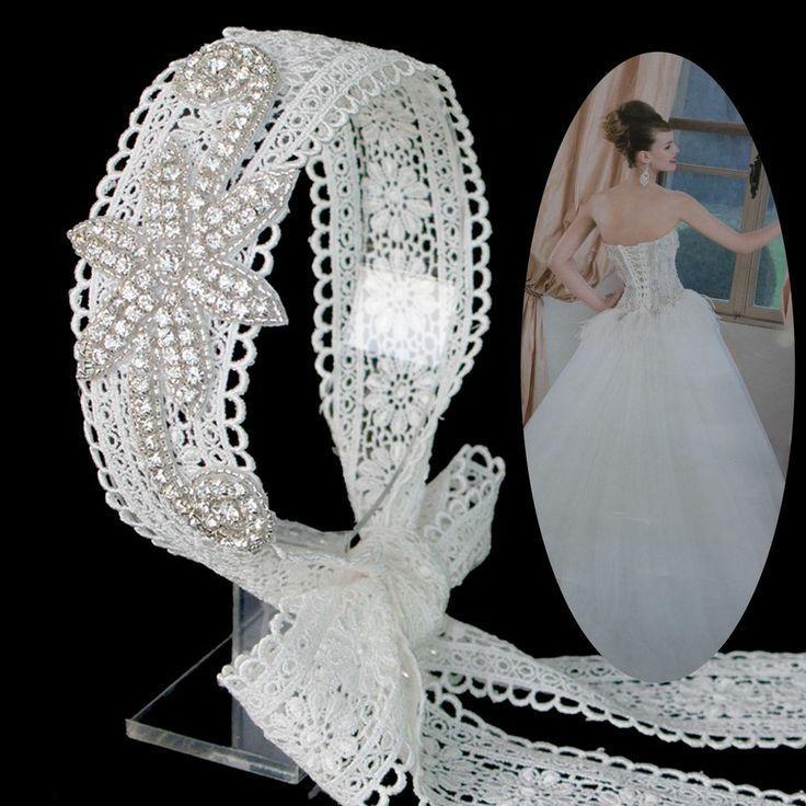 زفاف - زفاف العرسان حساس جدا الرباط زهرة حجر الراين العصابة الإكسسوار الشعر