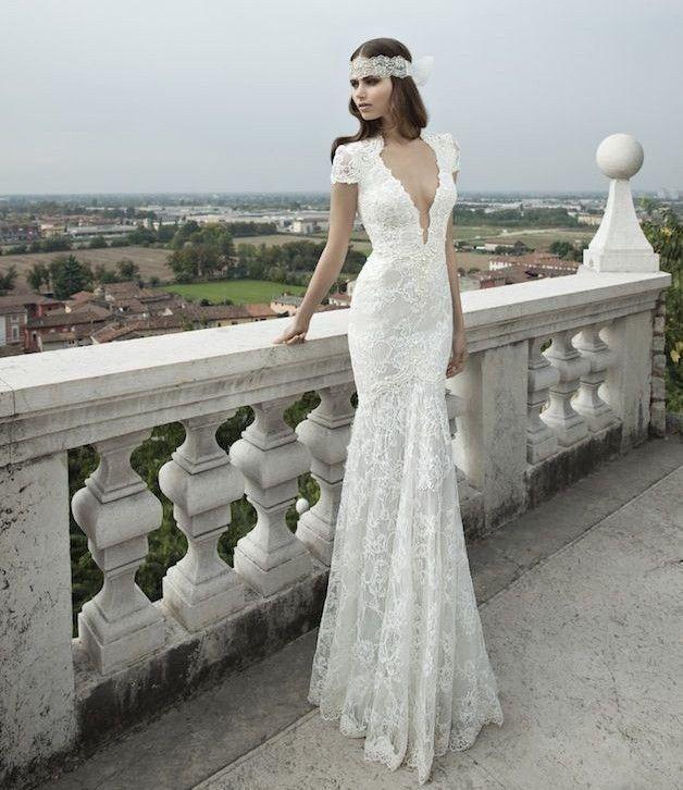 2014 new white ivory sheath lace wedding dress bridal gown for Lace white wedding dress