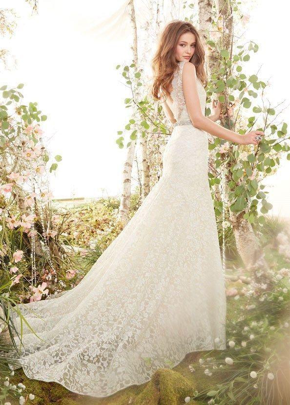 2014 New White Ivory Lace Mermaid Wedding Dress Custom Size 4 6 8 10 12 14 16 2045660