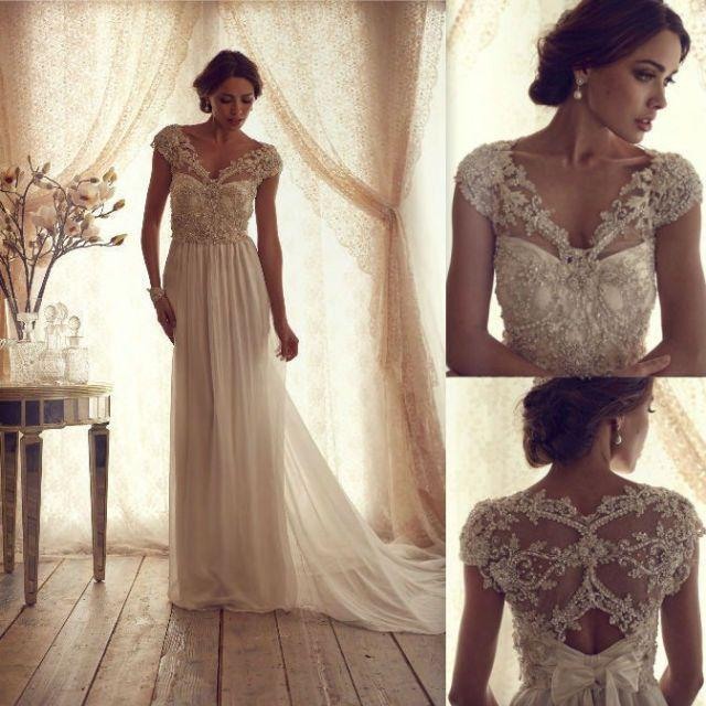 Gorgeous Anna Campbell Vintage Lace Wedding Dress #2045662 - Weddbook