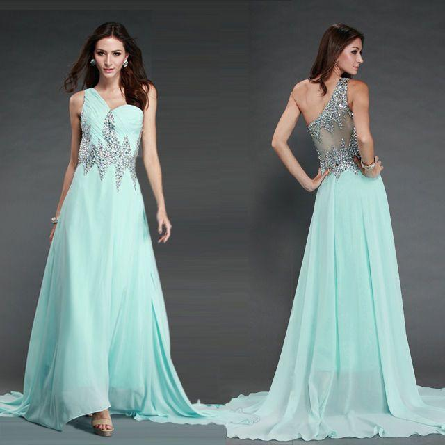 a5e8254d91b Women Chiffon Wedding Bridesmaid Dresses Formal Party Ballgown Long Prom  Dresses